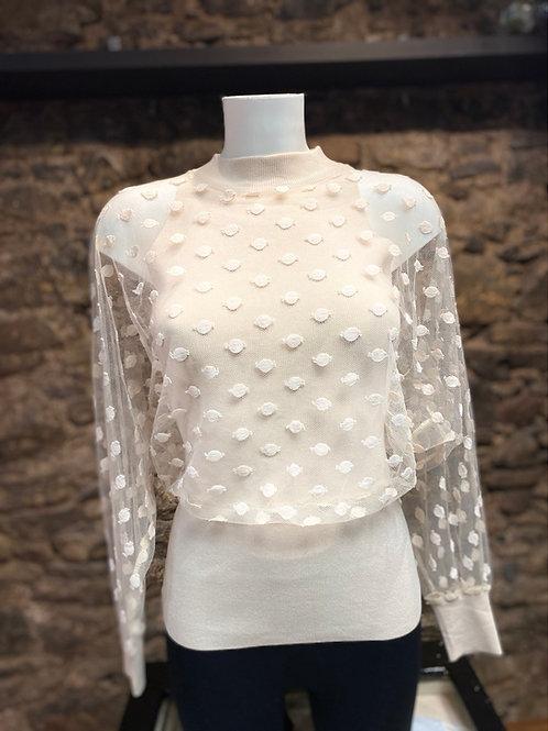 Polka mesh jumper