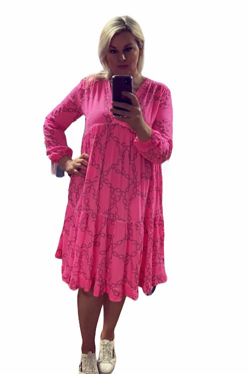 Neon chain dress