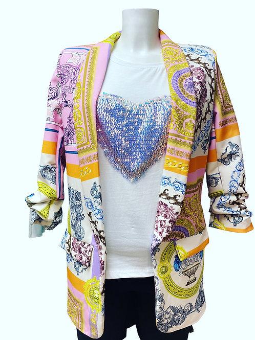 Printed blazer