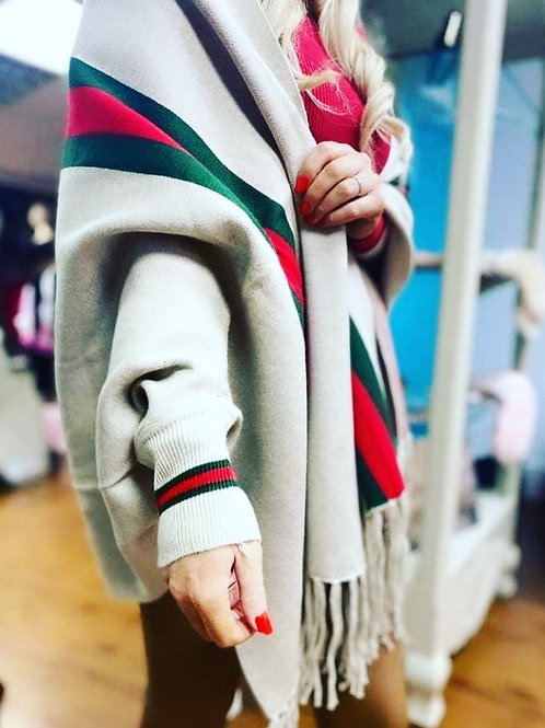 Gucci inspired sleeved cape