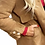 Thumbnail: Shearling Camel Teddy Coat with pearls