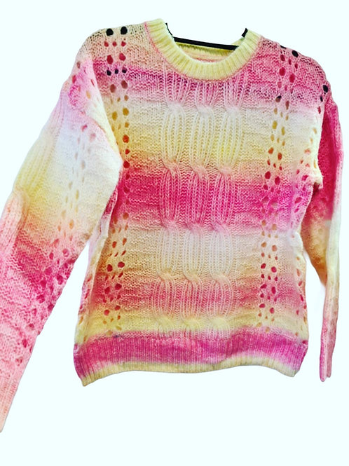 Knit jumper in Sherbert