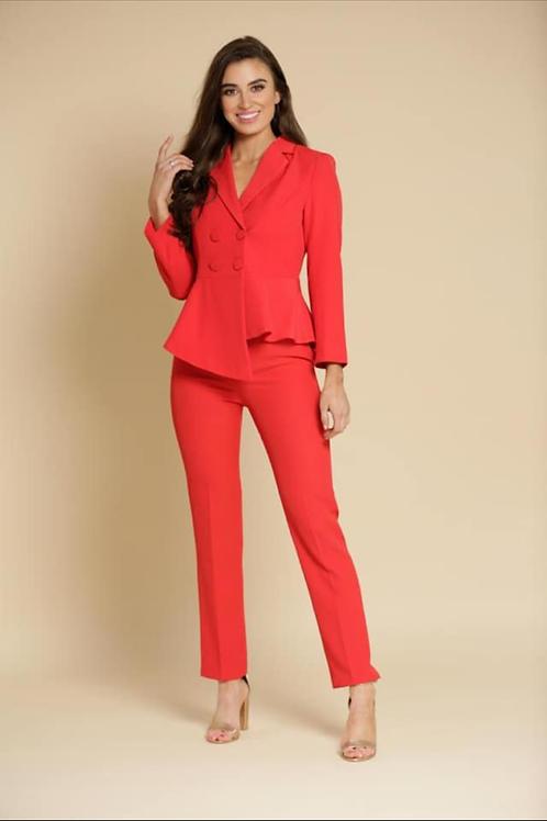 Peplum suit