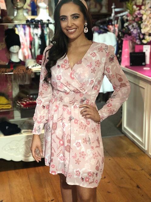 Blush floral dress