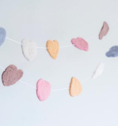 Heart Garland Pastel