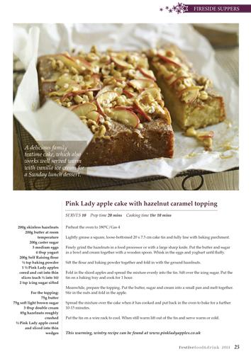 Page design Pink Lady Cake