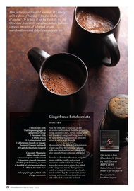Page design, hot chocolate