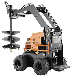 flexible skid steer mini loader with range of attachments