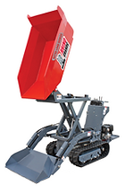 a compact track mounted auto loader and dumper