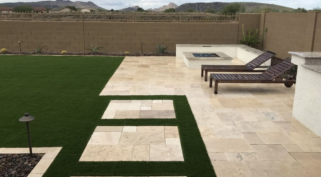 Travertine Backyard