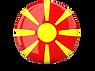 glossy round graphics flag of macedonia.