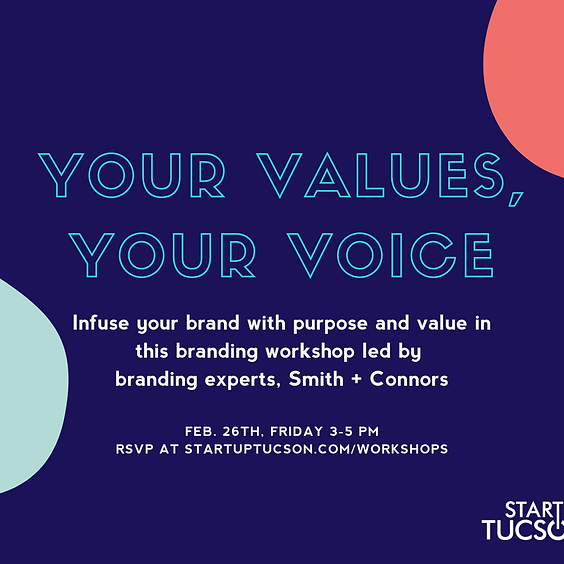 Your Values, Your Vision Branding Workshop