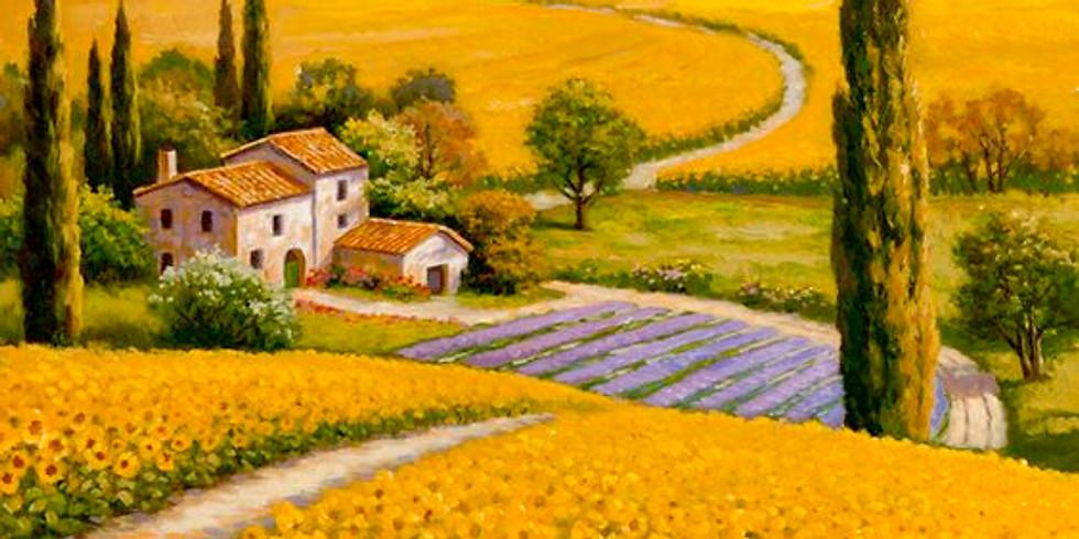 Пейзаж с подсолнухами |  30 апреля понедельник | 2000 руб