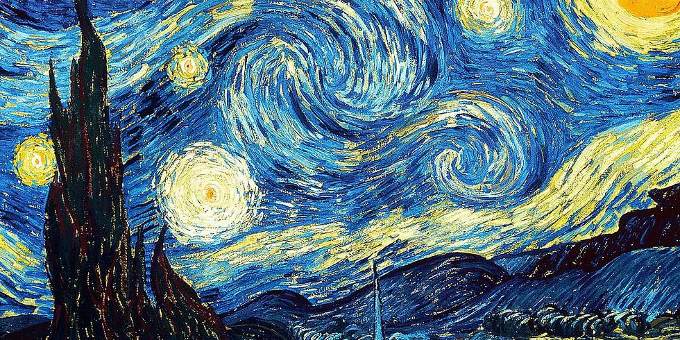 Рисуем звездную ночь Ван Гога