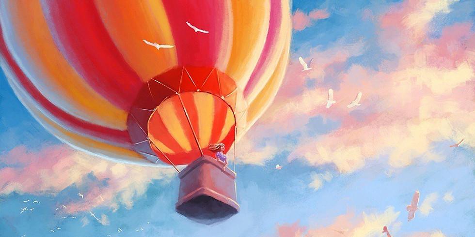 На воздушном шаре   15 августа четверг   1990 руб