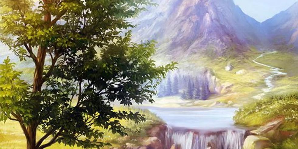 Горный пейзаж    4 апреля среда   2000 руб