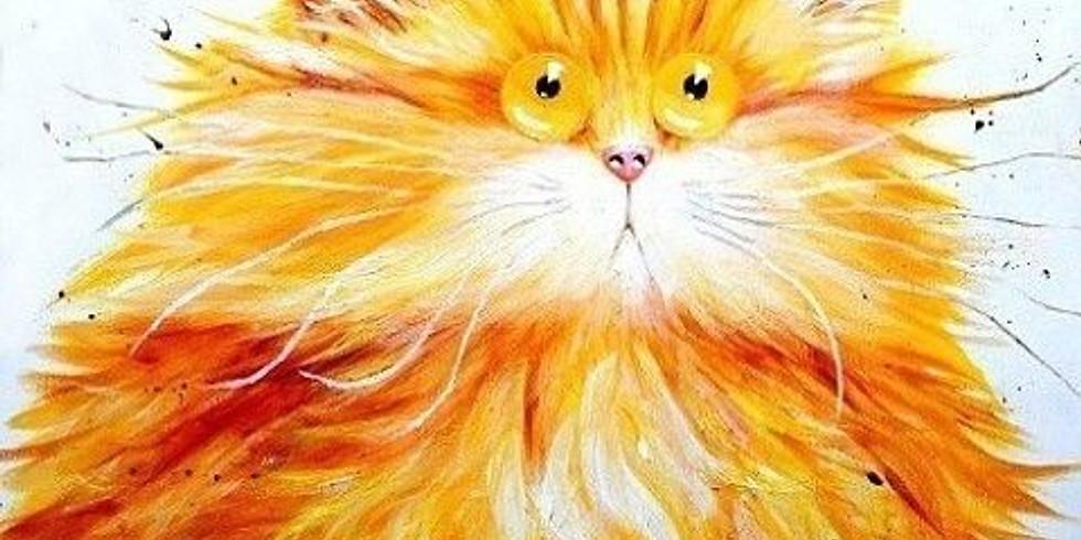 Удивленный кот    23 мая среда   2000 руб