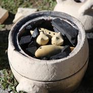 焼成前のオカリナ窯