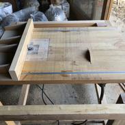自作のテーブルソー兼トリマーテーブル