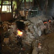 窯焚きの様子