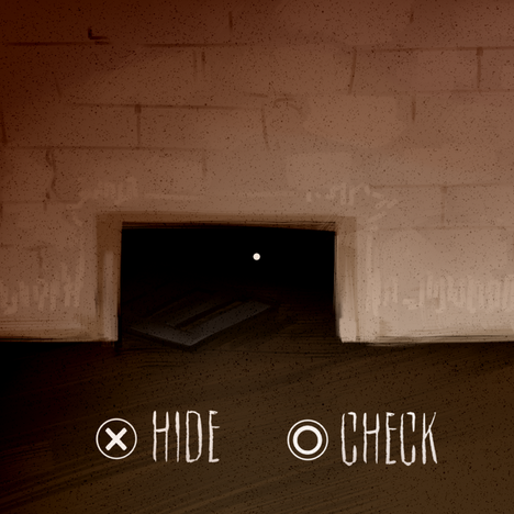 HUD interface concept for survival horror with puzzle and stealth-based gameplay