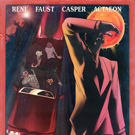 Vintage movie poster-inspired illustration for design final
