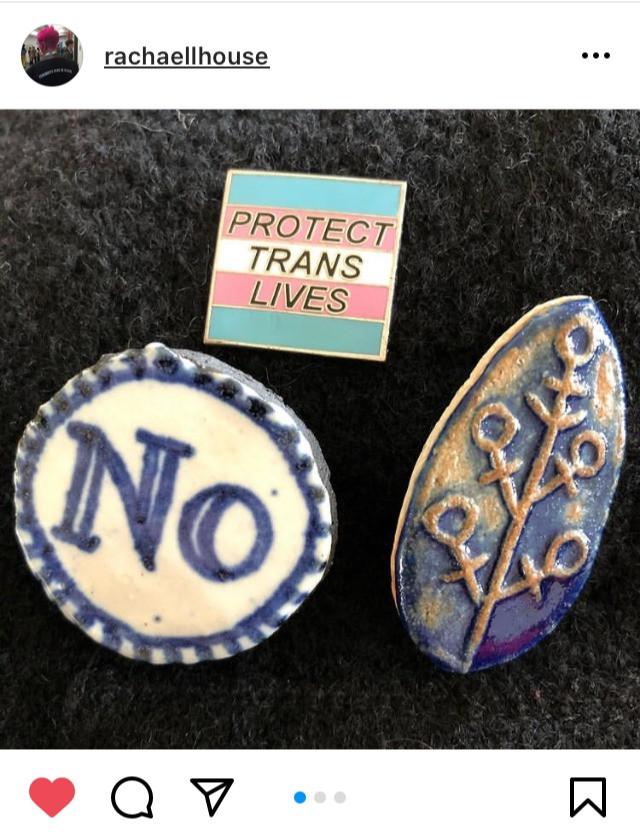 Trans Rights Badges, @Rachaellhouse, Instagram 2021