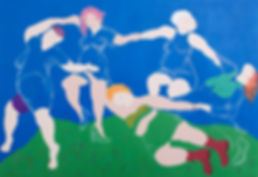 acrylic, painting, Matisse The Dance, feminist art, colour, glasgow artist, female painter