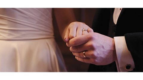 wedding ring wedding video holding hands