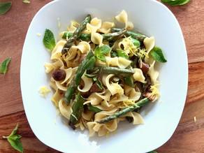 Pasta mit Spargel in Zitronensauce - einfaches One Pot-Rezept