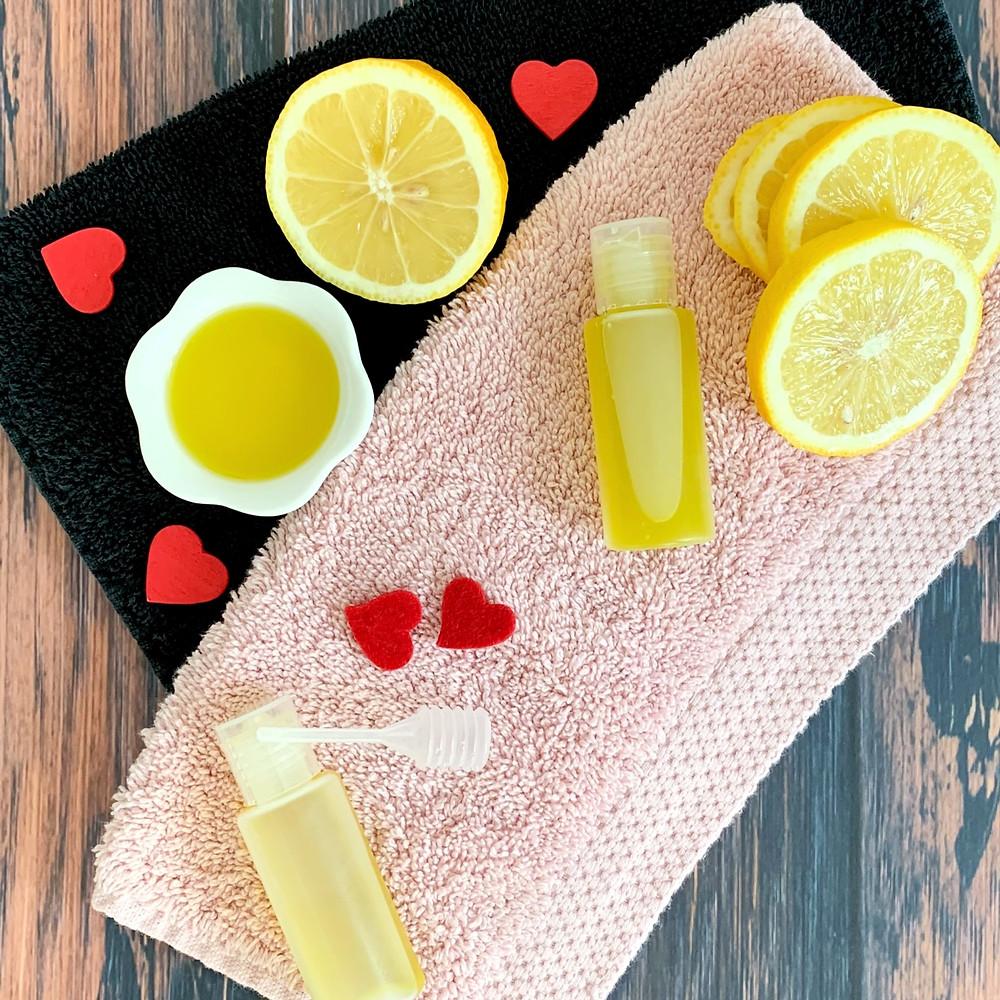 Massageöl mit Olivenöl und Zitrone zum selber mischen