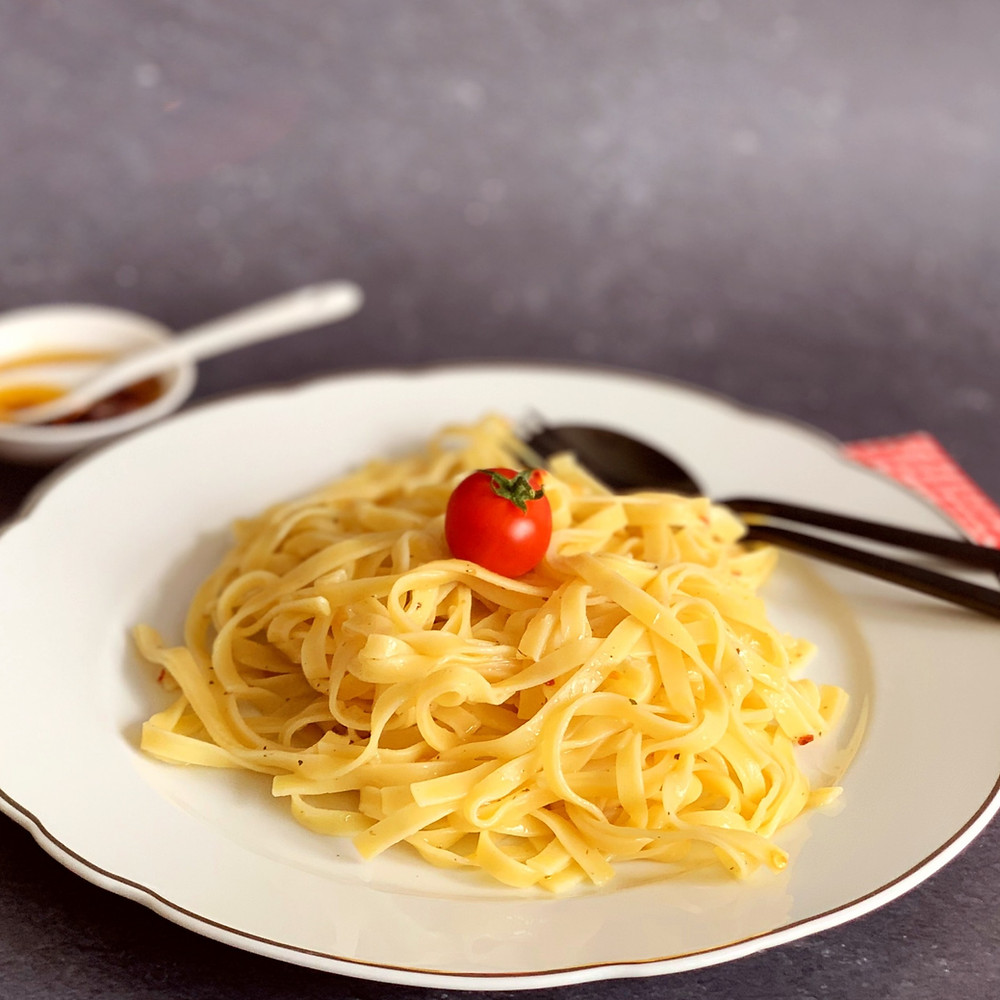 Rezept für Pasta aglio e olio
