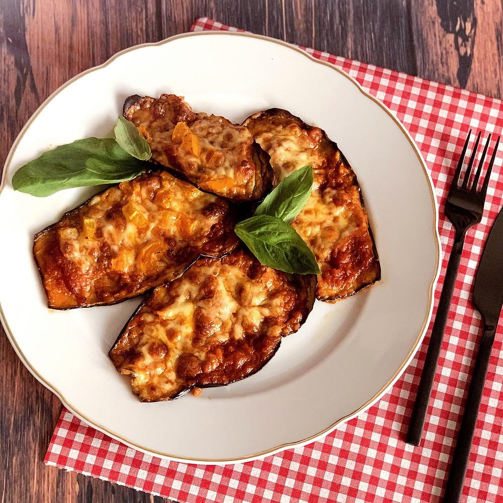 Rezept für Auberginen-Pizza