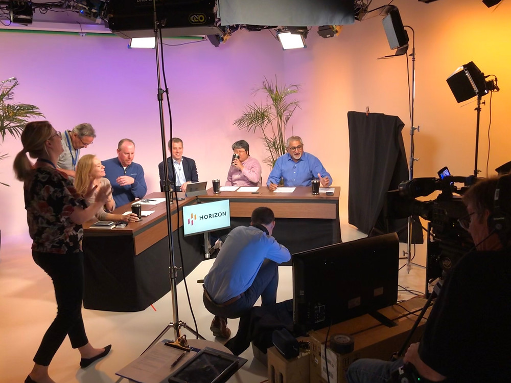 We used this small studio to deliver the latest quarterly meeting for Horizon Pharma