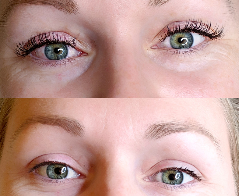 Before & After lash extensions