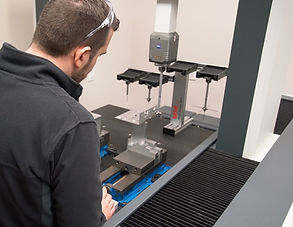 CMM Quality Control.  Progressive Machining has dedicated facilities and staff to ensure QC and traceabilty.
