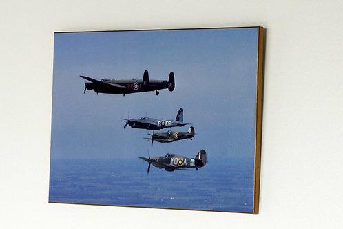 Lancaster -Hurricane -Spitfire -Mosquito (Plaque)
