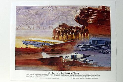 "Avro Historic Aircrafts (24"" x 18"")"