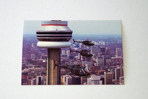 CH-136 Kiowa in CN Tower (25 postcards)