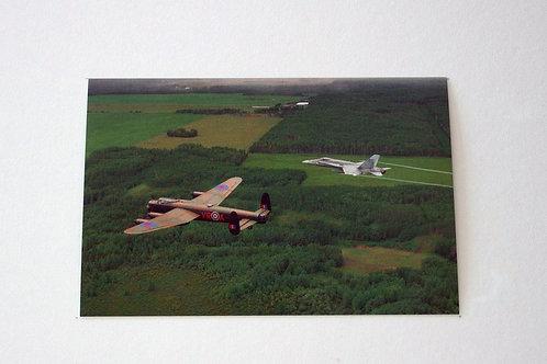 Mynarski Memorial Lancaster / F18 (25 postcards)