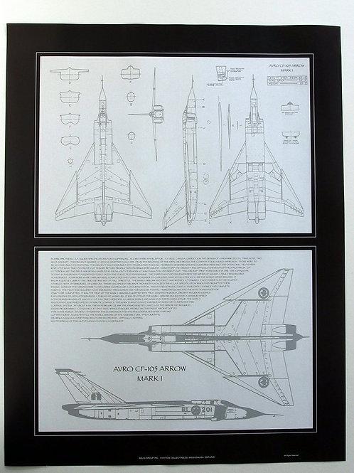 "Avro Arrow Diagram (26"" x 20"")"