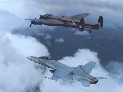 Avro Lancaster with F-18 Hornet