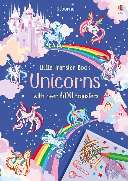 Cover for a rubdown unicorn book