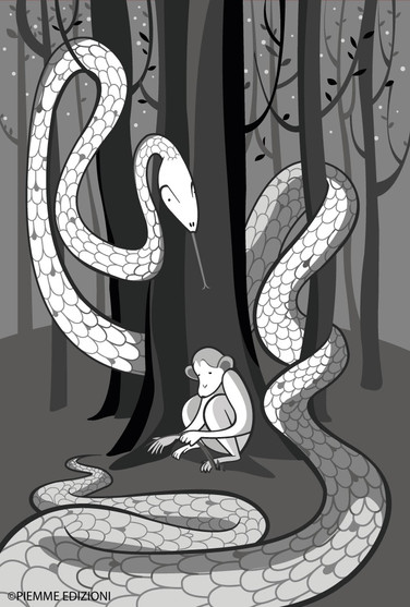 Pipì and the snake