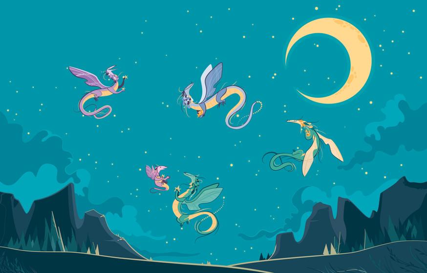 Moonlight dragons