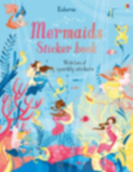 Cover fo a mermaid stickers book