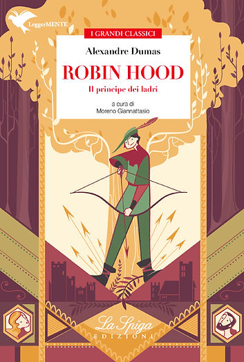 Cover for a children book based on Alexandre Dumas Robin Hood