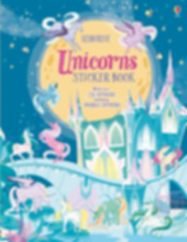 Cover for a unicorn stickers book