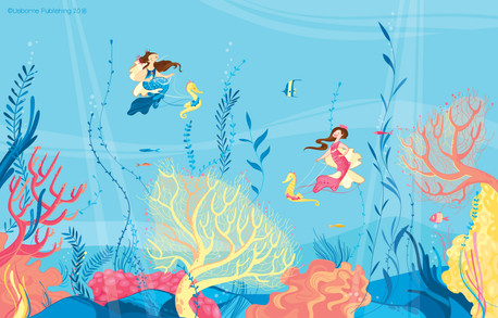 Mermaids Stickers book