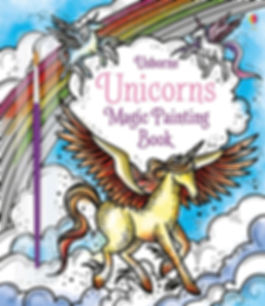 Cover book for theUnicorns magic painting book